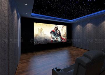 【案例】北京美林香槟小镇:地下室打造专属私人游戏影音室—游戏电影两不误